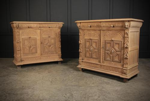 Stunning Pair of Raw Oak Side Cabinets (1 of 19)