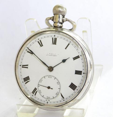 Antique Silver 1920s Moeris Pocket Watch (1 of 6)