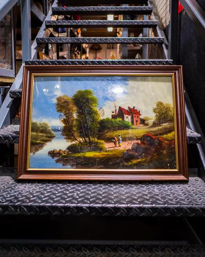 Antique Reverse Glass Painting (1 of 3)