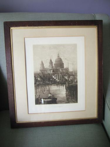 Lucien Gautier - Late 19th Century Etching of St Paul's Cathedral (1 of 6)