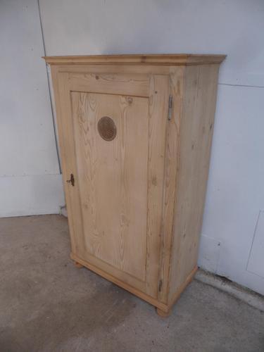 Victorian Antique Pine 1 Door Kitchen / Food Storage Cupboard to wax / paint (1 of 9)