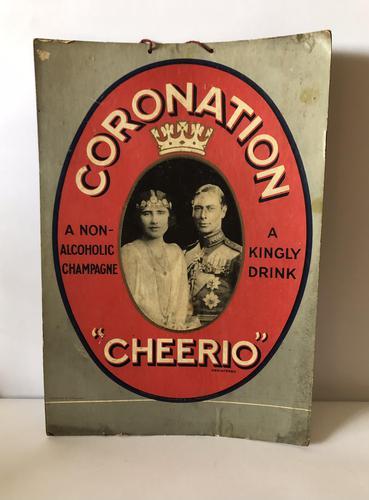 Pub Advertising Brewery Duckworth Showcard Coronation Cheerio Champagne (1 of 6)