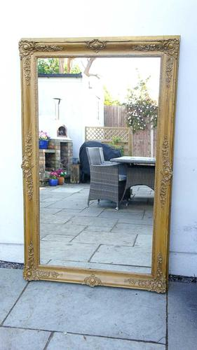 Large Victorian Giltwood & Gesso Overmantle Mirror (1 of 16)