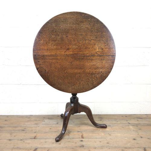 Early 19th Century Antique Oak Pillar Table (1 of 7)