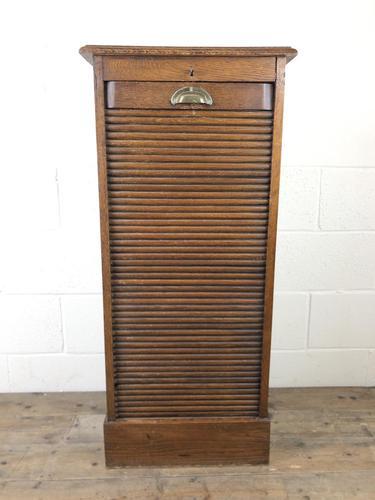 Antique Oak Tambour Filing Cabinet (1 of 9)