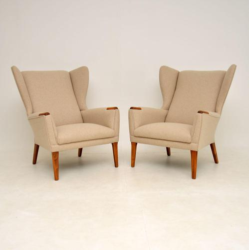 Pair of Vintage Wing Back Armchairs (1 of 9)