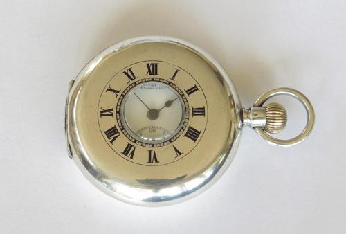 Antique Silver Half Hunter Pocket Watch, 1912 (1 of 5)