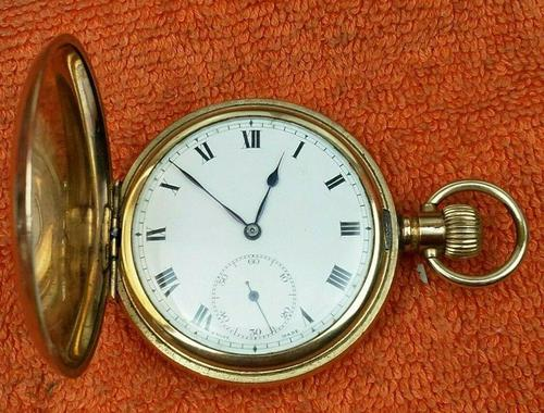 A.W.C CO Empress Canada Case, Swiss Movement Full Hunter Pocket Watch Gold Plated (1 of 7)