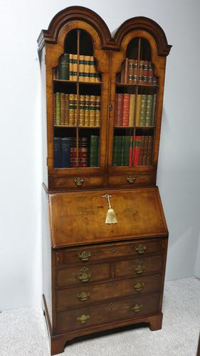 Double Domed Queen Anne Walnut Bureau Bookcase (1 of 15)