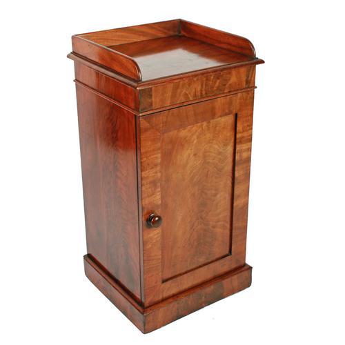19th Century Mahogany Bedside Cabinet (1 of 7)