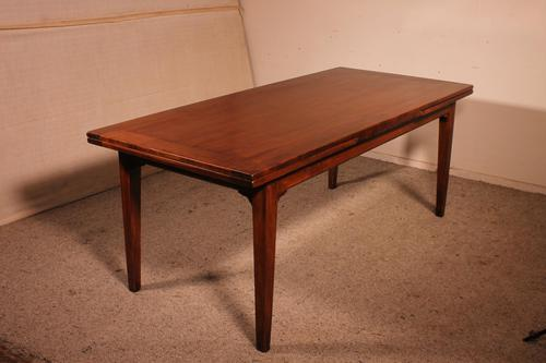 French Extending Table in Cherry Wood 19th Century / Louis XVI Feet (1 of 13)