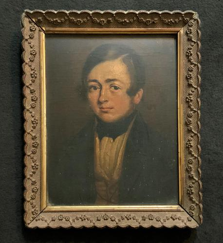 Beautiful Late 18thc Georgian Oil Portrait Painting Of A Young Handsome Chap (1 of 11)