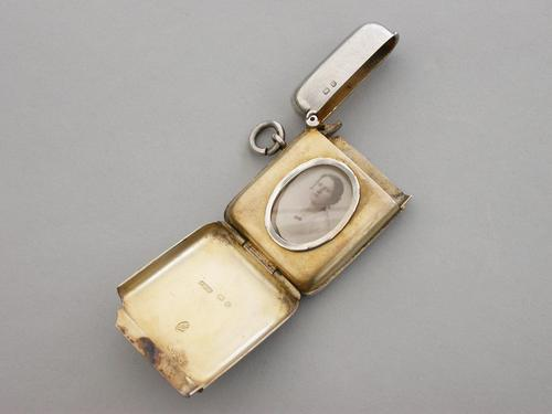 Victorian Silver Vesta Case with Hidden Photo Compartment.  By John Millward Banks, Chester, 1898 (1 of 13)