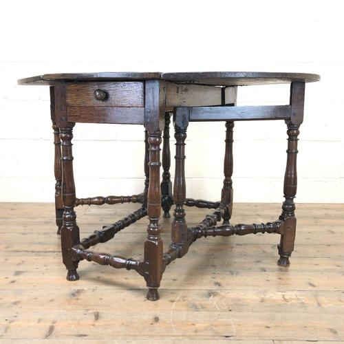 Antique Oak Drop Leaf Dining Table (1 of 13)
