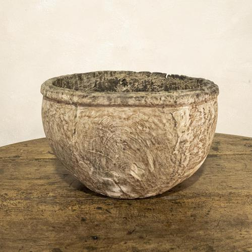 Large 18th Century Swedish Carved Wooden Burl Root - Knot Bowl (1 of 14)