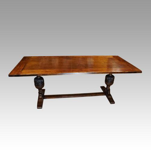Edwardian Oak Refectory Table (1 of 10)