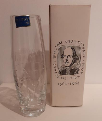 Shakespeare Crystal Vase by Webb's Crystal 1964 (1 of 2)