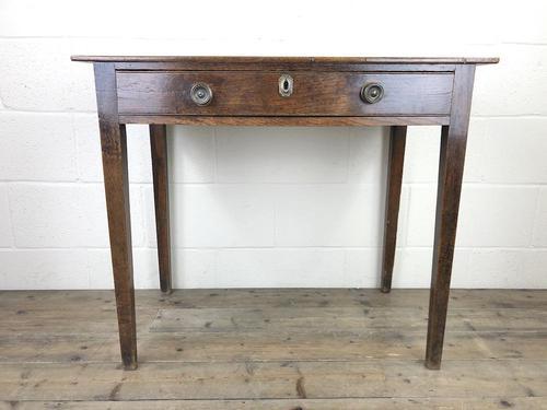 Georgian Oak Single Drawer Side Table (1 of 10)