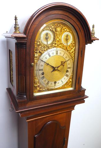 Antique Grandmother Clock 8 Gong Musical Longcase Clock with Dual Chimes by W&H c.1880 (1 of 15)