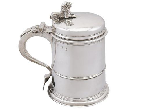 Britannia Standard Silver Quart Tankard - Antique Queen Anne 1704 (1 of 13)