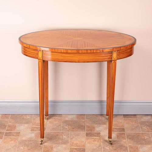 Inlaid Oval Satinwood Occasional Table (1 of 15)