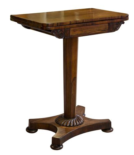 Small Rosewood Card Table (1 of 10)
