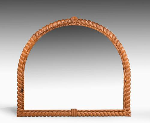 Attractive Mid 19th Century Giltwood Overmantle Mirror (1 of 4)