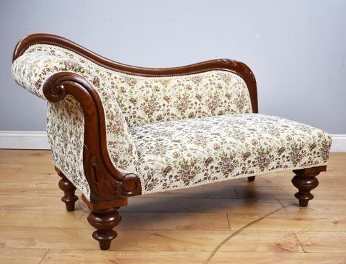 Small Victorian Mahogany Chaise Longue (1 of 8)