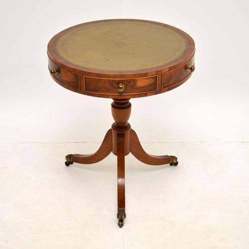 Regency Style Yew Wood Drum Table c.1930 (1 of 6)