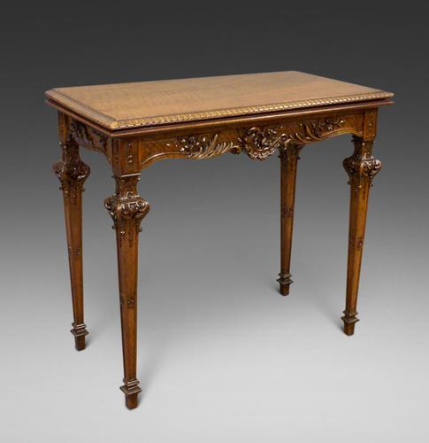 An American, Carved Walnut Card Table (1 of 6)
