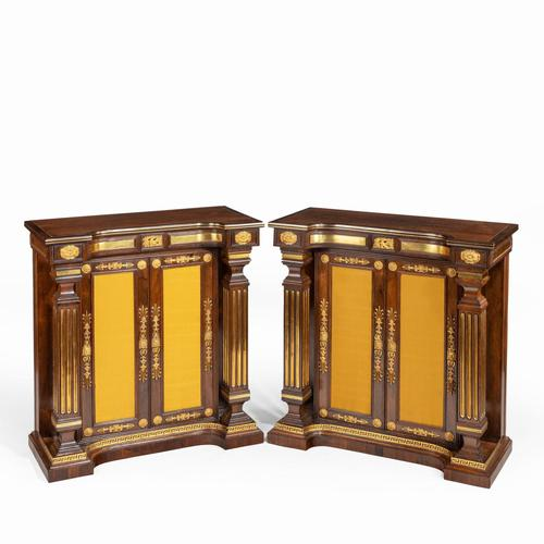 Pair of Regency Brass Inlaid Rosewood Side Cabinets (1 of 17)