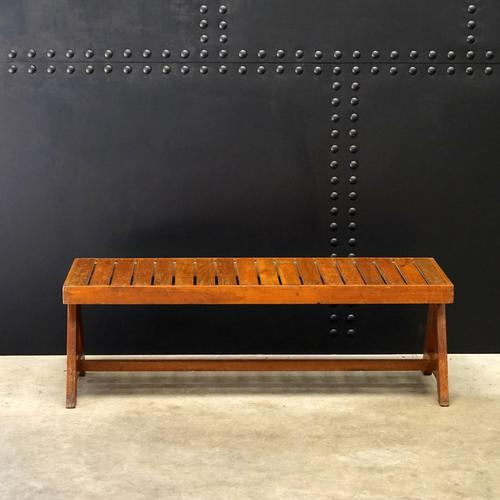 Slatted Bench V-type by Pierre Jeanneret c.1955/56 (1 of 6)