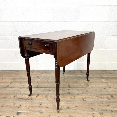 Antique Regency Mahogany Pembroke Table (1 of 10)