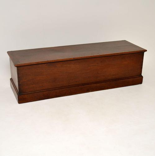 Antique Georgian Solid Mahogany Trunk Blanket Chest (1 of 12)