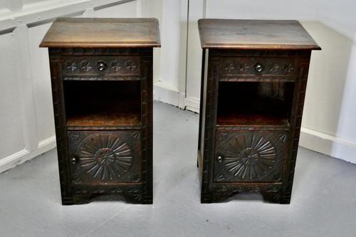 Pair of Breton Oak Bedside Cupboards (1 of 7)