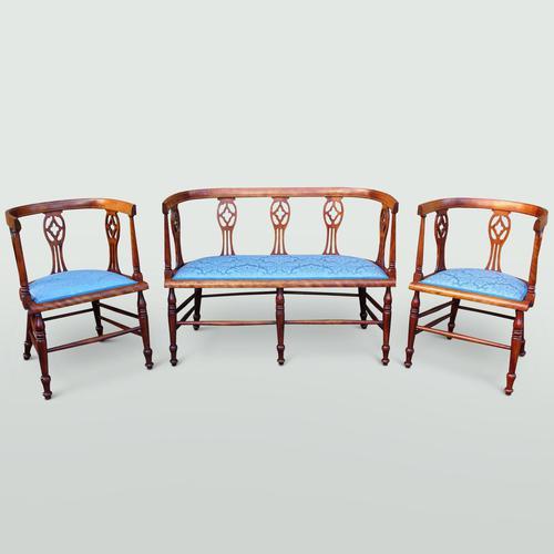 Edwardian Mahogany Salon Suite (1 of 7)