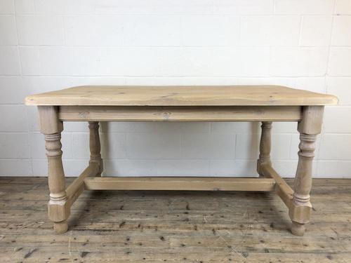 Vintage Antique Pine Farmhouse Kitchen Table (1 of 18)