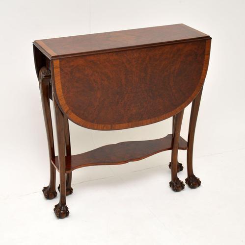 Antique Burr Walnut Drop Leaf Dining Table (1 of 11)