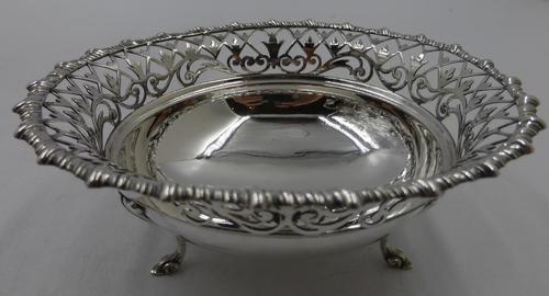 Silver Bon Bon Dish. Sheffield 1921 (1 of 5)