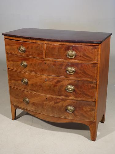 Regency Period Mahogany Bow Fronted Chest of Drawers (1 of 4)