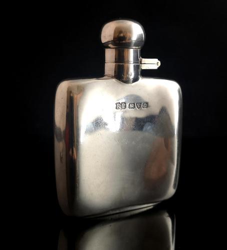 Vintage Art Deco Silver Hip Flask (1 of 12)