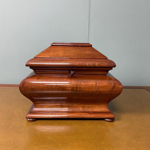 Unusual Victorian Mahogany Antique Tea Caddy (1 of 7)