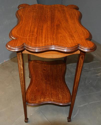 Mahogany Inlaid Occasional Table (1 of 4)