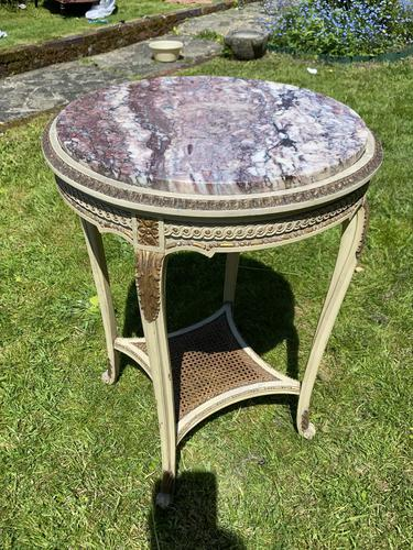 Original Paint & Gilt French Occasional Table (1 of 6)
