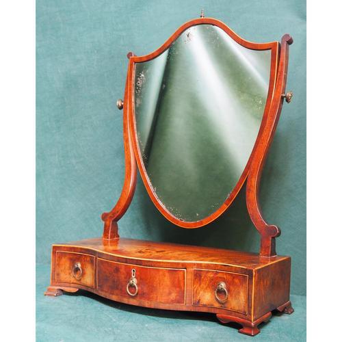 George III Box Sole Mirror - Serpentine (1 of 1)