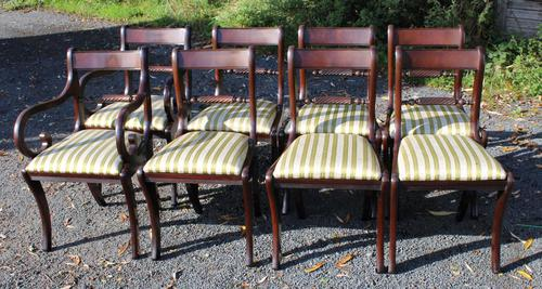 1960s -set 8 Mahogany Rope Back Dining Chairs with Pop Out Seats 6+2 Carvers (1 of 3)