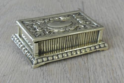 Fine William Tonks & Sons Brass Match Safe / Striker Box Vesta c.1900-1910 (1 of 4)