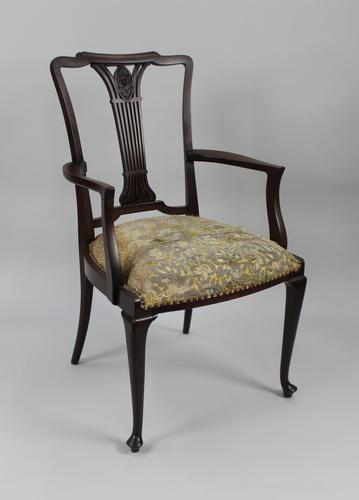 Antique Georgian Mahogany Armchair (1 of 8)
