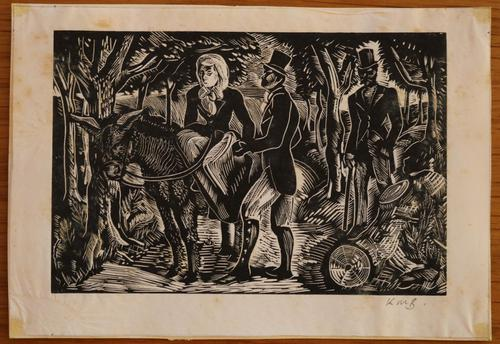 Figurers on a country lane by Kathleen Mary Bell (1 of 4)