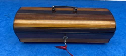 French Mahogany Glove Box with Boxwood, Ebony & Fruitwood Stripes (1 of 12)